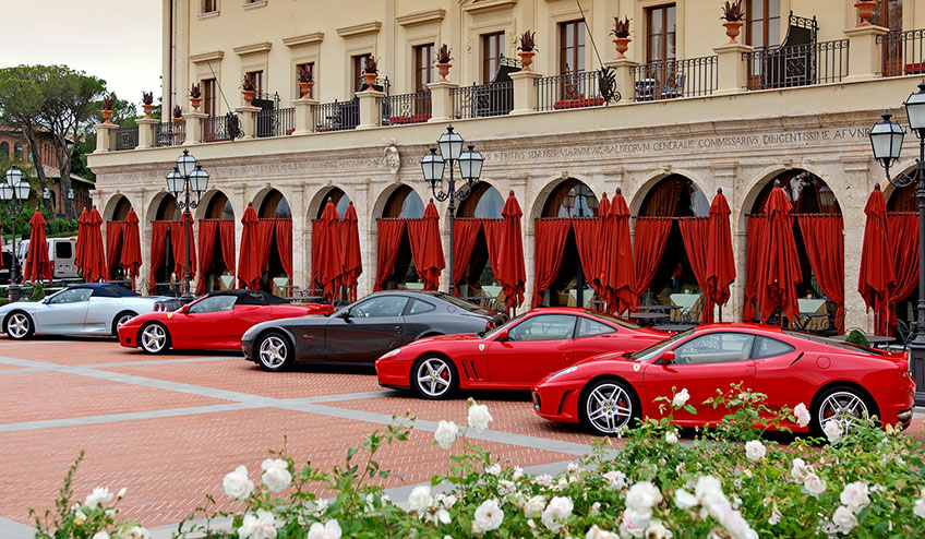 Book Now 5 Days Rome Umbria Ferrari Tour Ferrari Tours Of Italy